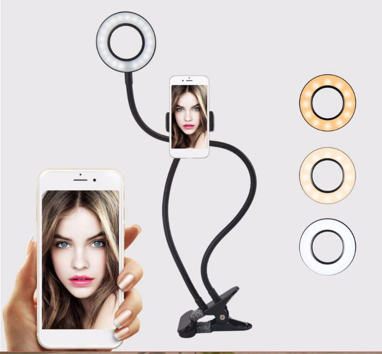 LightnU Photo Studio Selfie LED RING LIGHT for phone with Holder and clamp