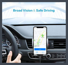 "Load image into Gallery viewer, Automatic clamping Phone Car Holder for 4""-6.5"" cellphone and wireless charger."