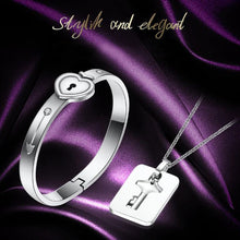 Load image into Gallery viewer, Couple Silver Love Lock Gift Set