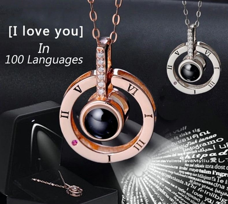 I Love You in 100 Languages Necklace.
