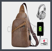 Load image into Gallery viewer, Unisex Fashion trend Crossbody Bag, Good quality PU leather chest bag.