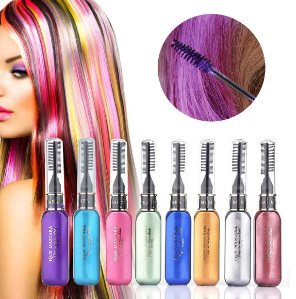 3 PCS Washable Hair Dye Mascara Sticks