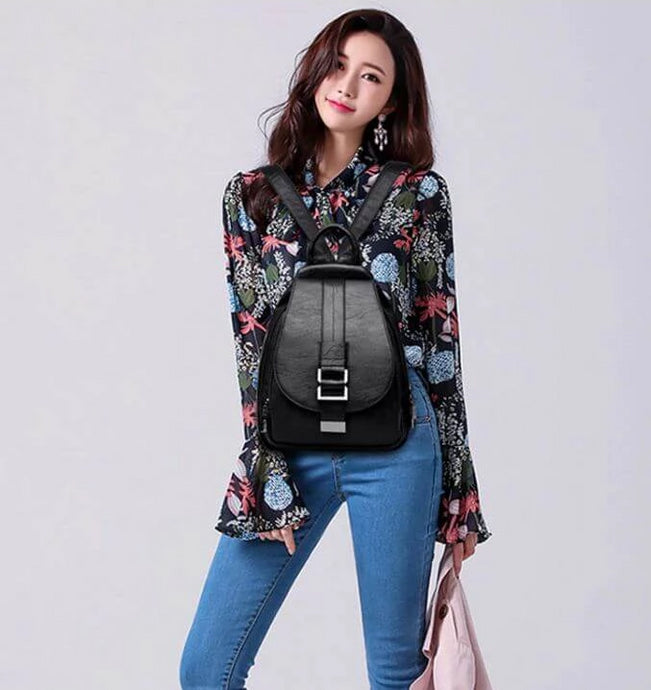 2019 Women Genuine Leather Backpacks