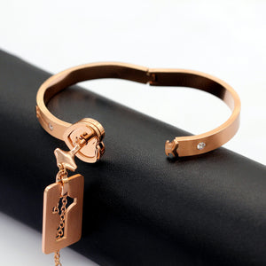 Couple Rose Gold Love Lock Gift Set