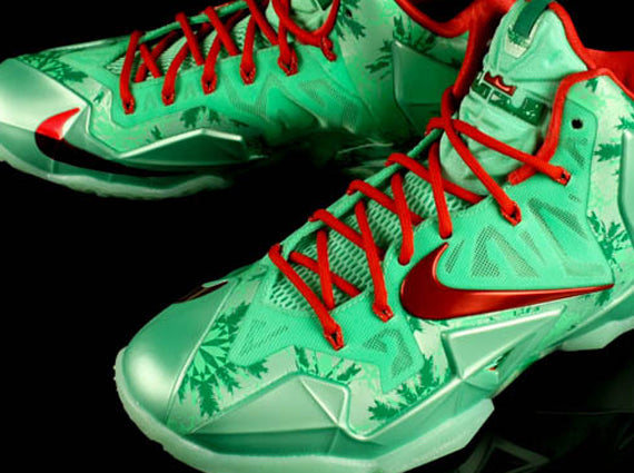 901c46c88a4493 The Lebron 11 Christmas sneakers will be releasing December 26th 2013 for   200.00. Be sure to pickup these dope sneakers because the colors are on  fire!
