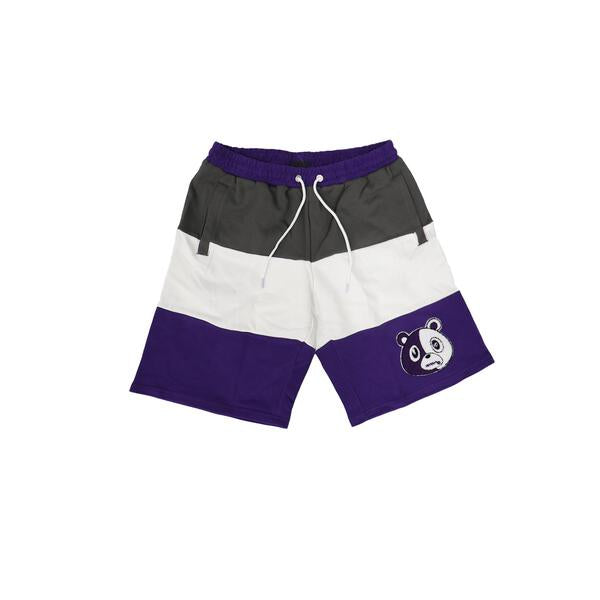 Varsity Purple Chenille Patch Shorts