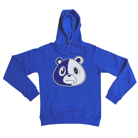 E Bear Chenille Patch Hoodie-Royal
