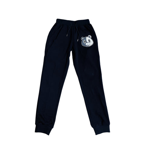 E Bear Chenille Pants-Black