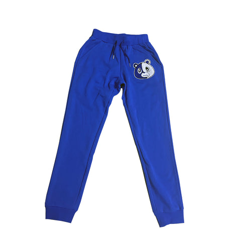 E Bear Chenille Patch Pants-Royal