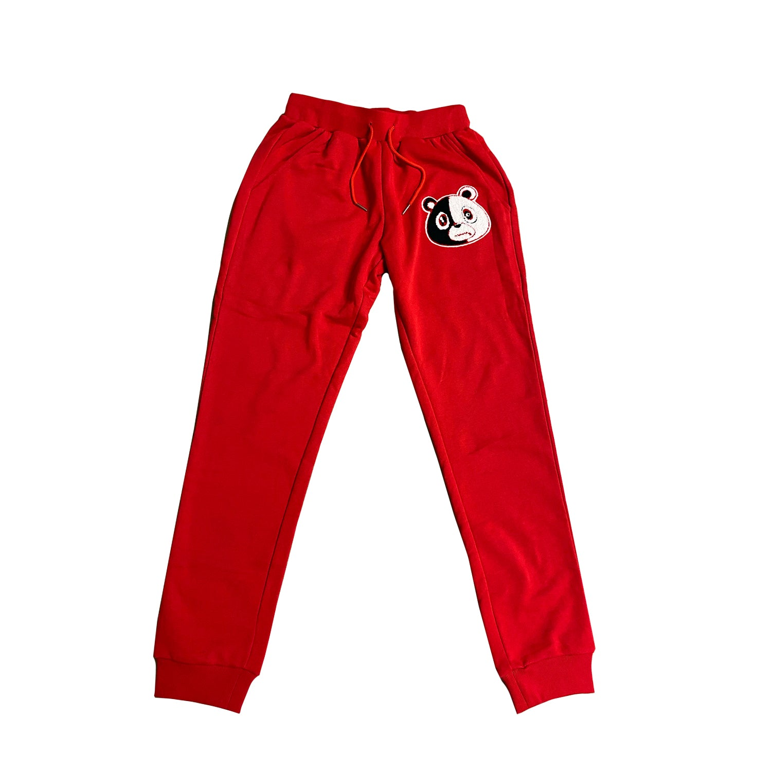 E Bear Chenille Patch Pants Red