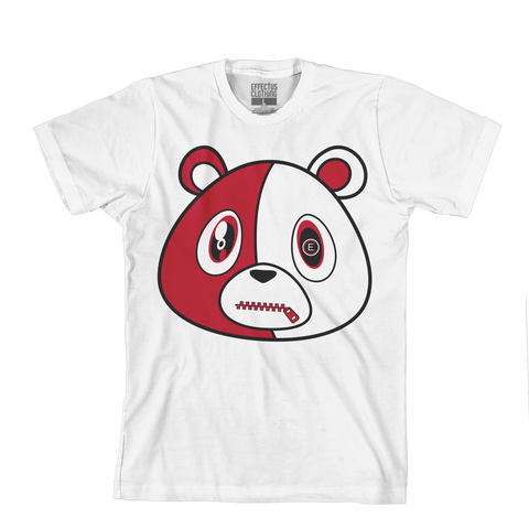 E Bear White/Red
