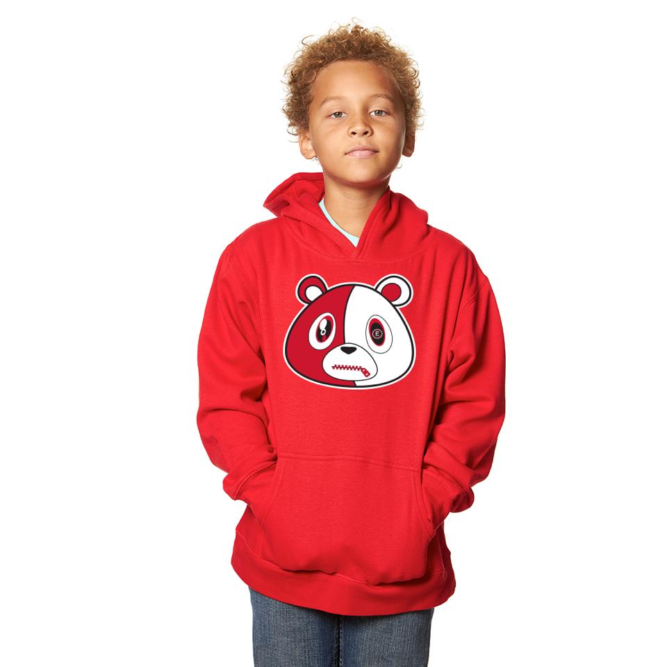 E Bear Red Hoodie-Youth