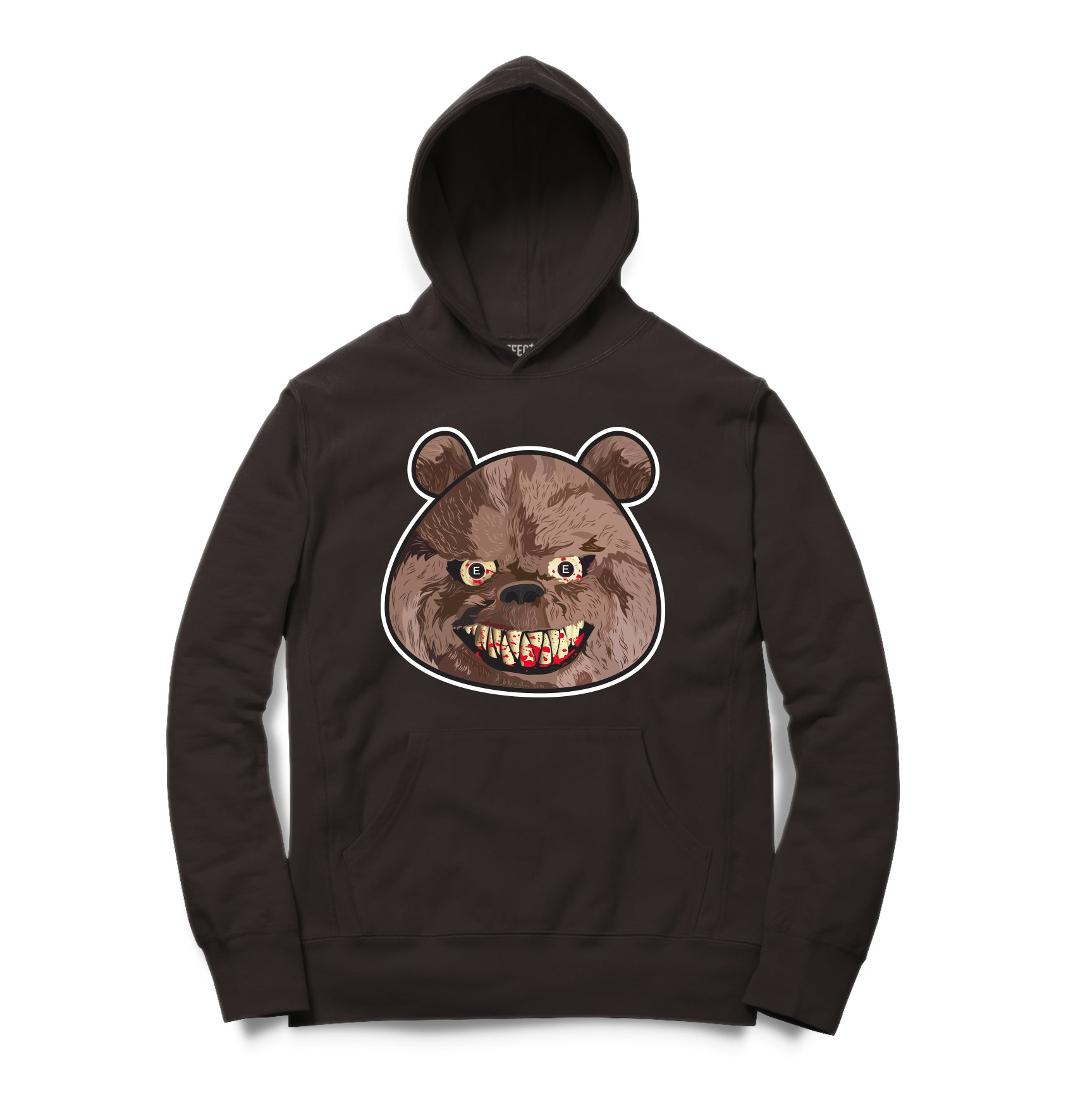 Scary Bear Hoodie-Chocolate