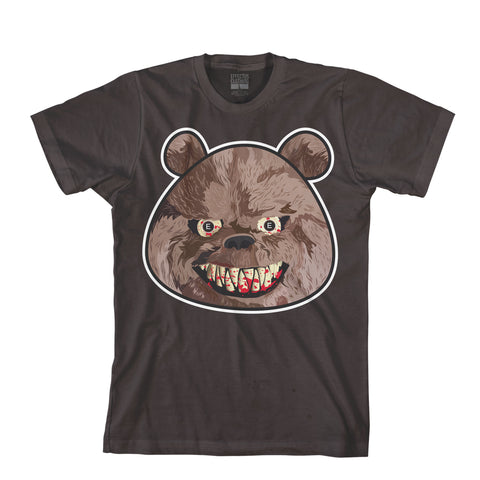 Scary Bear Tee-Brown