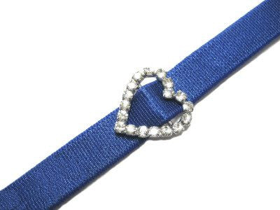 Detachable or replacement coloured bra straps with decorative diamante heart accessory
