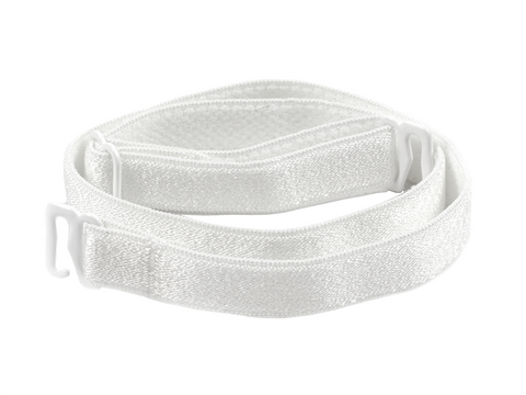 White detachable or replacement bra straps