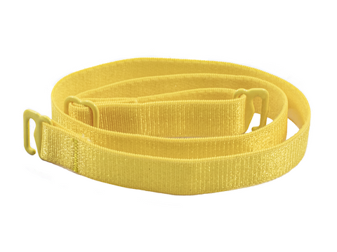 Yellow detachable or replacement bra straps