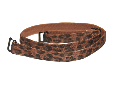 Brown leopard print detachable bra straps