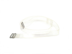 Detachable clear plastic bra strap
