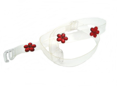 detachable clear red daisy bra strap