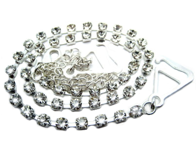 detachable silver clear diamante bra strap