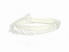 detachable white beaded bra strap