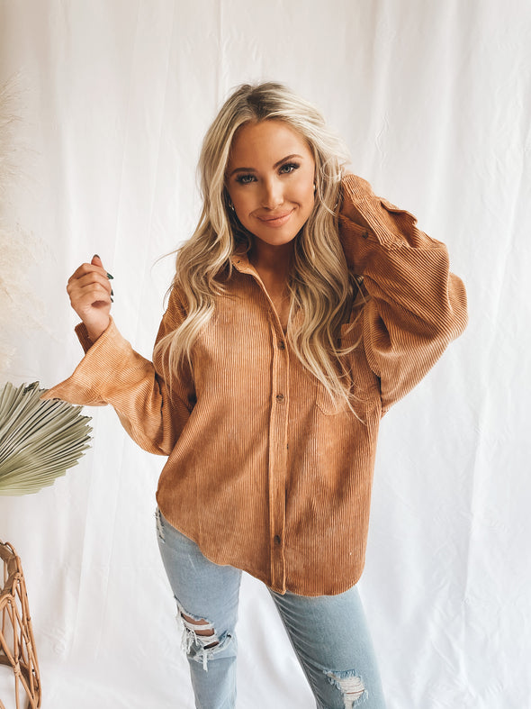 Lift You Up Corduroy Jacket-Top