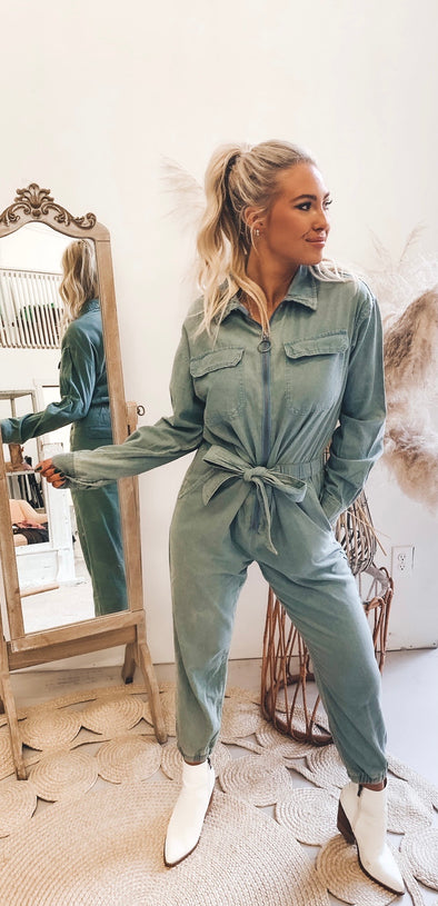 Happier Than Ever Denim Jumpsuit