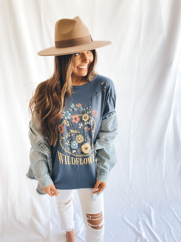 Wildflowers Distressed Graphic Tee