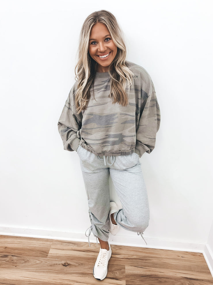 Rhyme or Reason Cropped Pullover