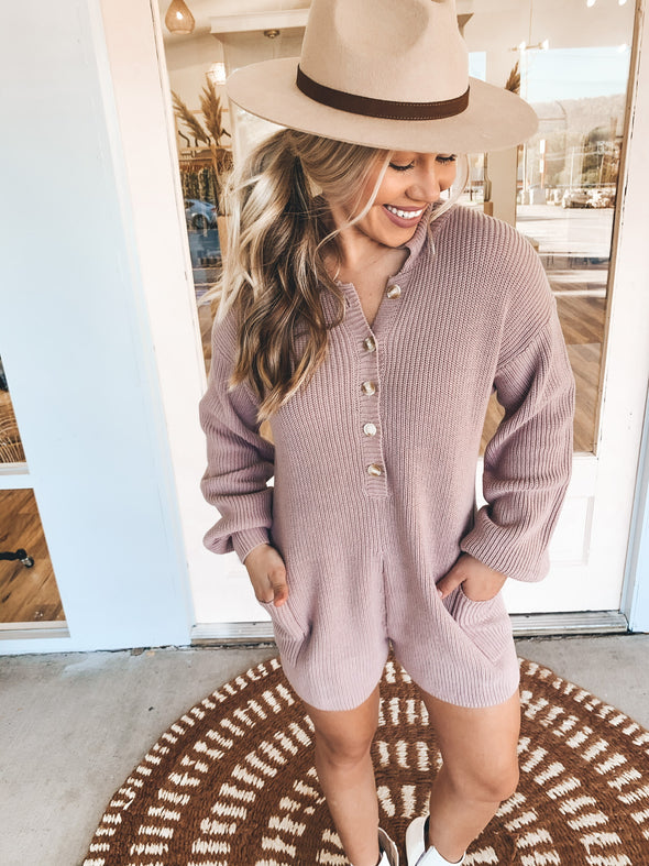 Bring it Back Sweater Romper