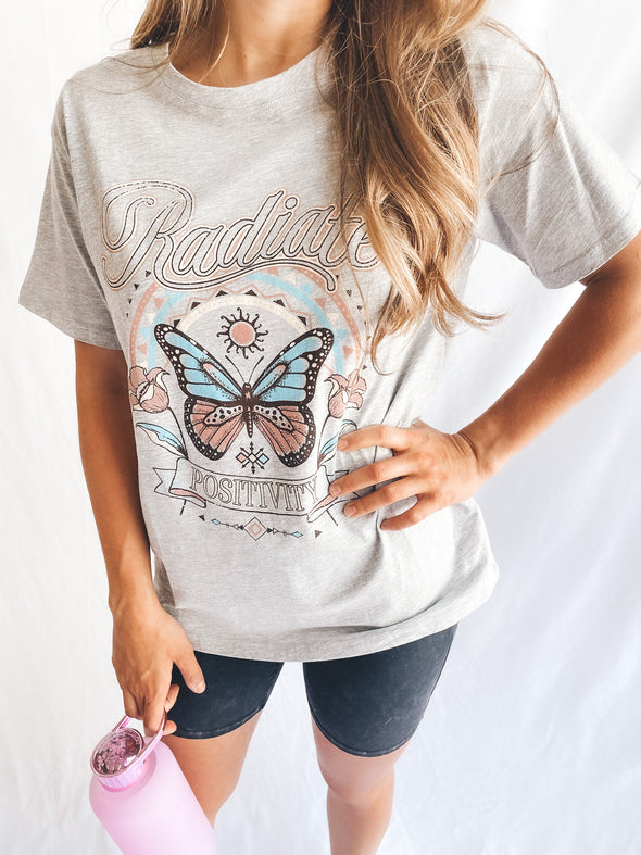 Radiate Positivity Butterfly Graphic Tee