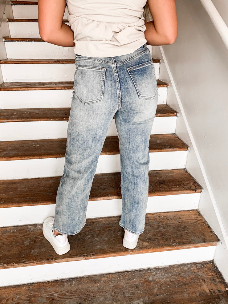 All At Stake High Rise Wide Leg Jeans