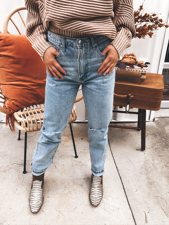 Right or Wrong High Waisted Jeans
