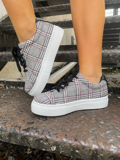 The Royal Sneakers in Black Plaid