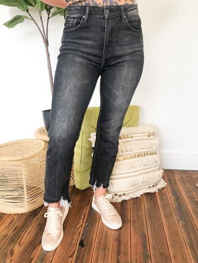 Reba High Waisted Ankle Flare Jeans