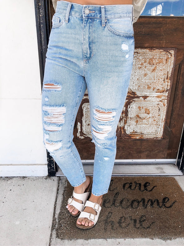In My Time High Rise Girlfriend Jeans