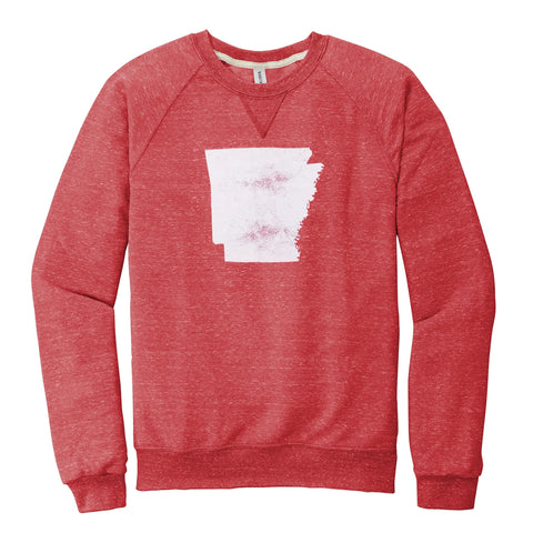 Arkansas Faded Stated Sweatshirt