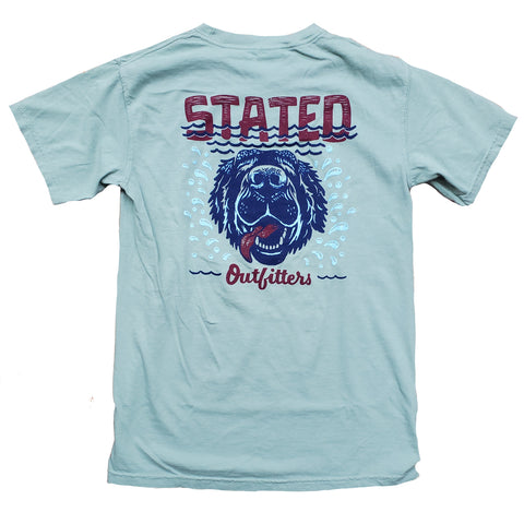 Stated Outfitters Lake Dog CC sage tee