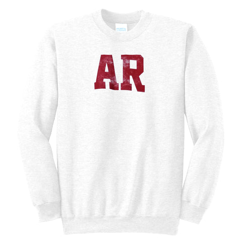 Arkansas AR White Sweatshirt