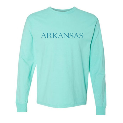 By the sea Arkansas Teal LS T-Shirt