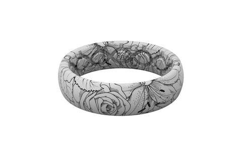 Groove Life Thin Winter Rose Silicone Ring