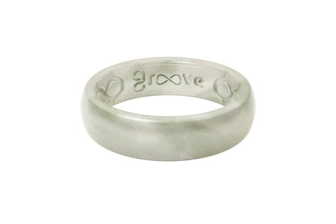 Groove Life Thin Pearl Metallic Silicone Ring