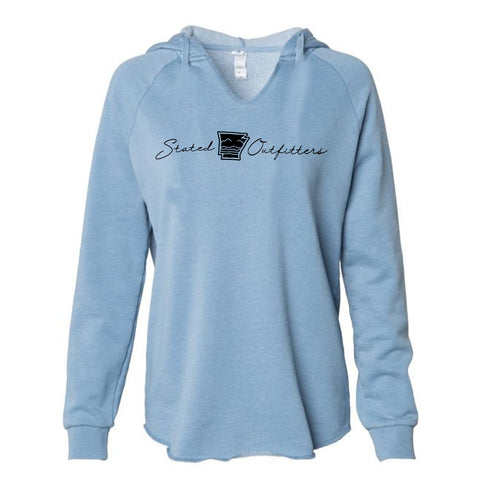 Stated Outfitters Blue V-neck Hoodie