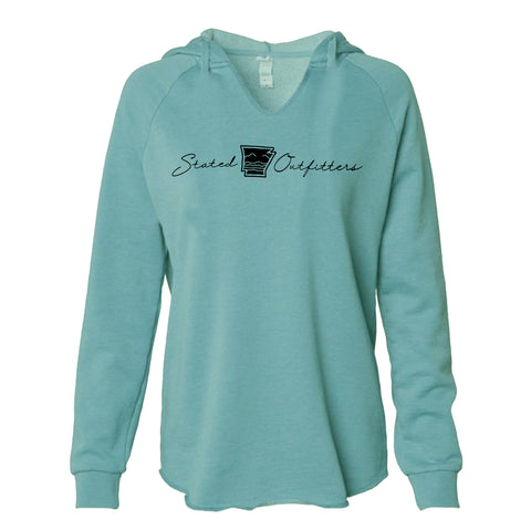 Stated Outfitters Foam Green V-neck hoodie