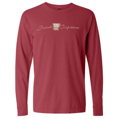 Stated Outfitters Crimson/Cream LS T-Shirt