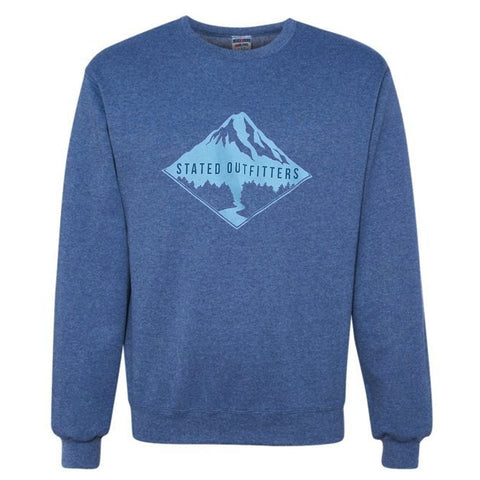 Stated Outfitters Navy/ Aqua Mountain Sweatshirt