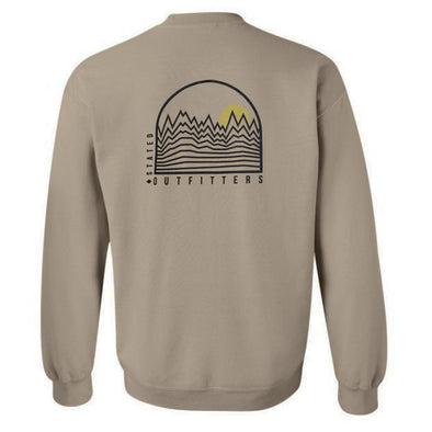 Stated Outfitters Tan Mountain and Sun Sweatshirt