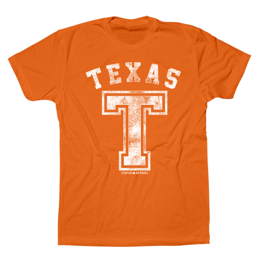 "Texas Block ""T"" Distressed Tee"