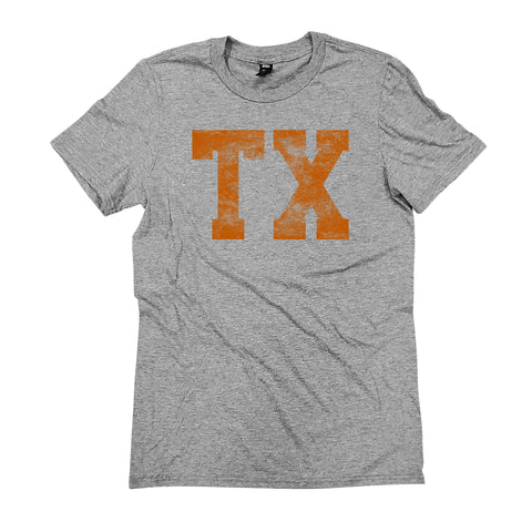 TX Block Distress T-Shirt